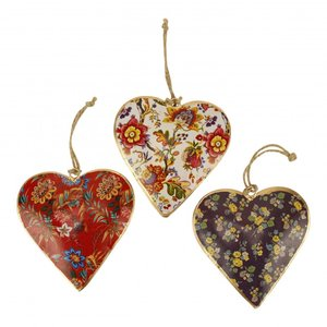Imbarro metalen hart hangers: Hanging Hearts Bright