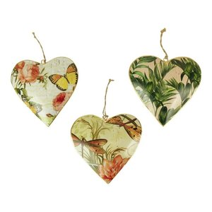 Imbarro metalen hart hangers: Hanging Hearts Nature