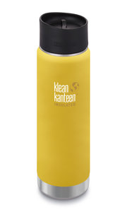 Klean Kanteen gele thermosbeker Wide insulated 20oz Lemon Curry