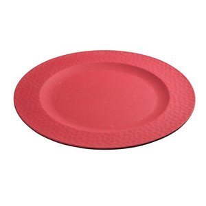 Zuperzozial large bite plate hammered cherry red