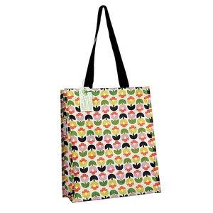 Gerecyclede tas met tulp bloemen print GreenPicnic