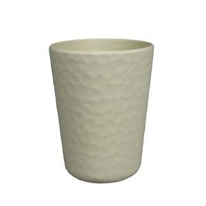 Zuperzozial witte bamboe beker