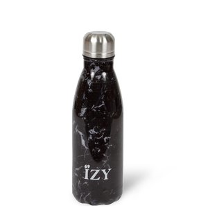 Izy bottle Marble Black 350ml GreenPicnic