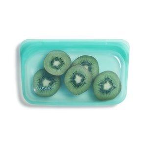 Snack zakje aqua, Stasher bag small met kiwi