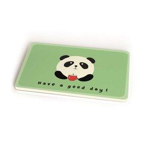 Bamboofriends ontbijtplankje van bamboevezel Panda Have a good day