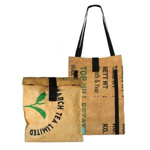 superwaste backpack shopper, rugtas en shopper ineen.
