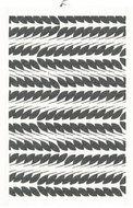 GreenPicnic Tina Towel/placemat van biologisch katoen en linnen met zwart-witte blad print