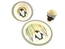PureKids bamboe kinderservies met pinguin print