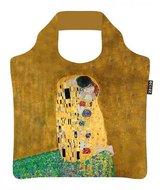 Opvouwbare tas van rPet met de kus van Gustav Klimt