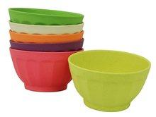 Zuperzozial bamboe grote kommen set sweet fortune bowls rainbow XL