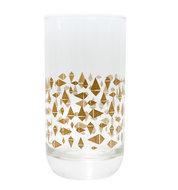 Eco Design Triangle drinkglas gouden driehoekjes