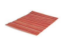 Fairtrade bamboe  onderlegger rood-oranje