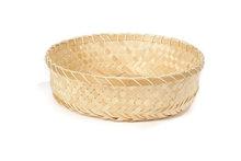 Fairtrade broodmand gevlochten bamboe