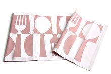 Tina Tafelloper roze bestek van biologisch katoen