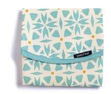 Keepleaf foor wrap geo, lunchverpakking blauw-creme