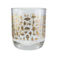 EcoDesign Fairtrade drinkglas met gouden Triangle print