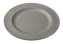 Zuperzozial small plate hammered stone grey, grijs bamboe dinerbord
