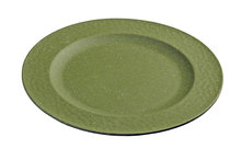 Zuperzozial small plate hammered green. Bamboe ontbijtbord
