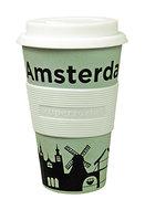 Zuperzozial bamboe koffiebeker Amsterdam