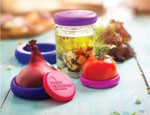Foodhuggers siliconen deksels Bright berry