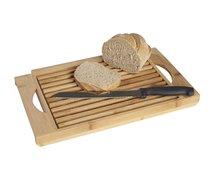 Bamboe broodsnijplank met broodmes