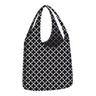Ecozz little big bag Squares Black opvouwbare shopper