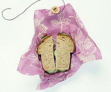 Bee's Wrap boterhammen in sandwich wraps lunchverpakking paars