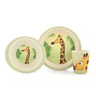 YuuNaa bamboe kinderservies met Giraf