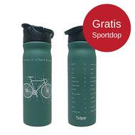 Retulp RVS drinkfles groen met gratis sportdop