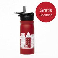 TUlper rode RVS drinkfles met gratis sportdop