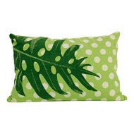 Imbarro cushion dot green, sierkussen groen