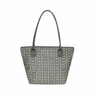 Grey Leaves Tote bag, canvas fairtrade shopper