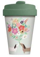 BambooCup koffiebeker van bamboe met afsluitbaar deksel Lovely Doggiess